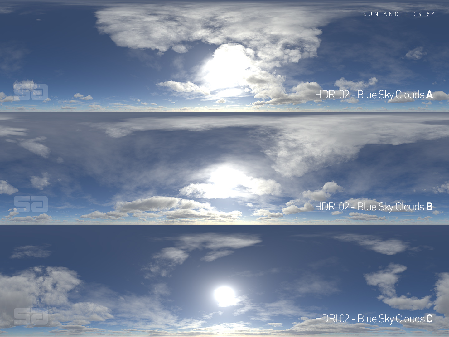 CG HDRI / Winter Collection Skies 01 from helloluxx