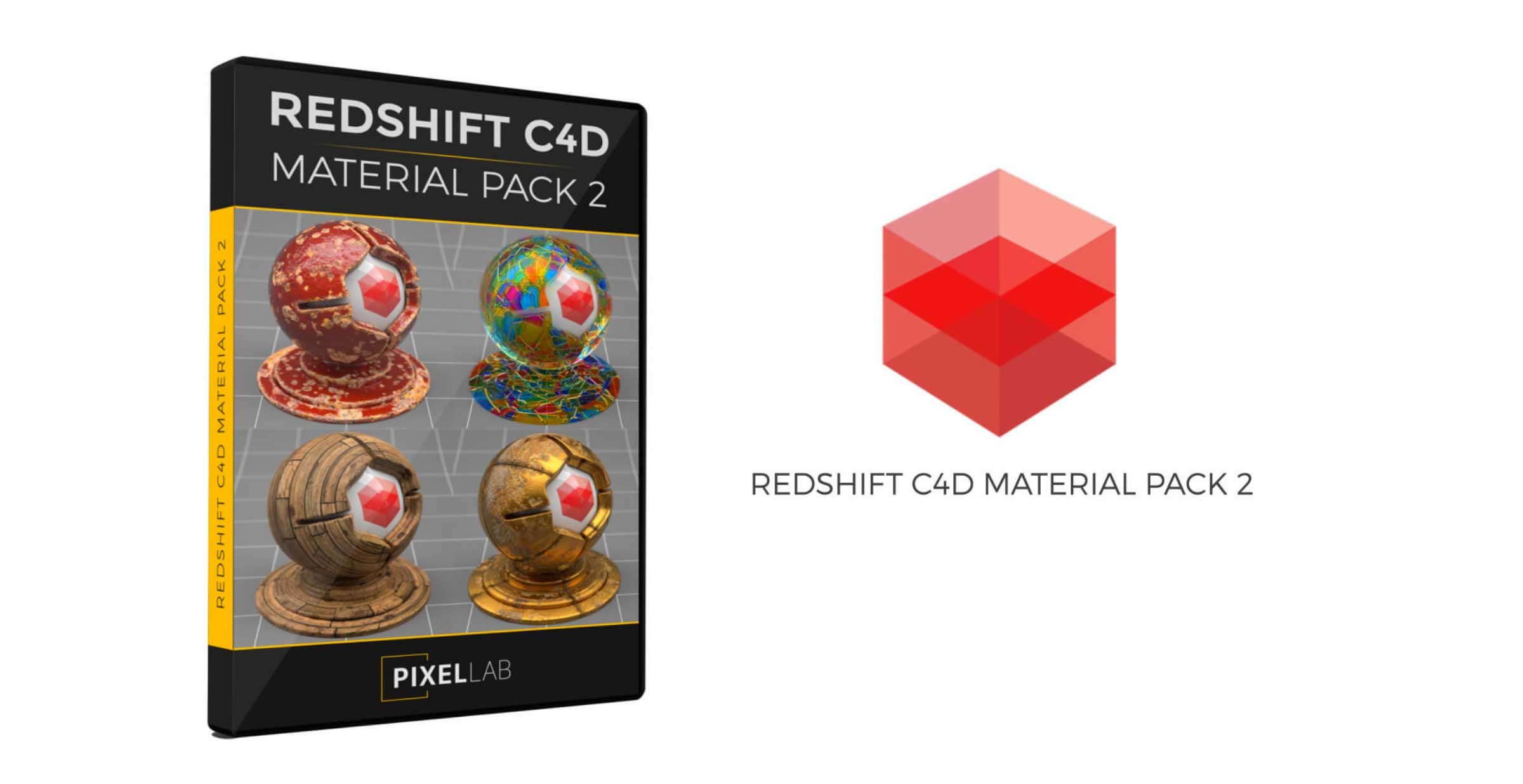Redshift / Cinema 4D Pack : Material Pack 02 from helloluxx by The Pixel Lab