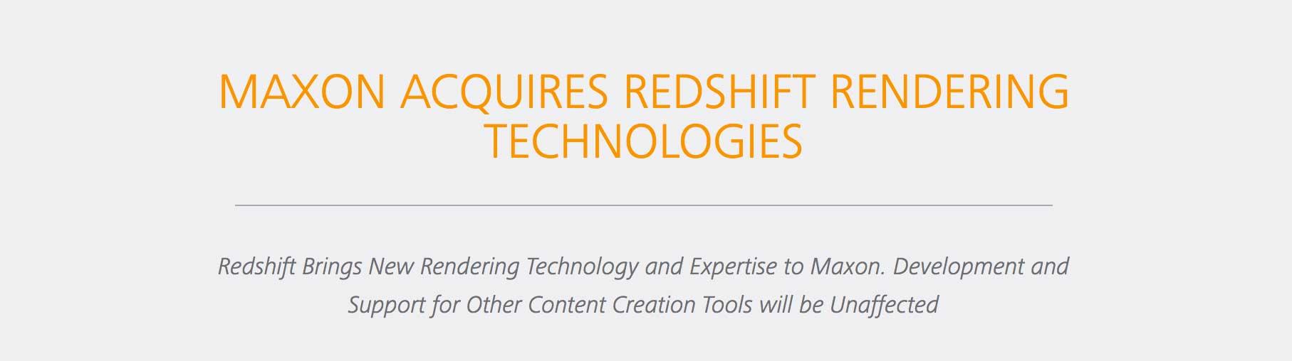 Maxon acquire Redshift - helloluxx