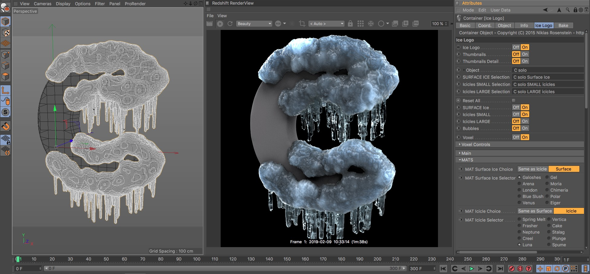Ice Logo for Cinema 4D / Redshift Ed. from helloluxx by Dan Couto