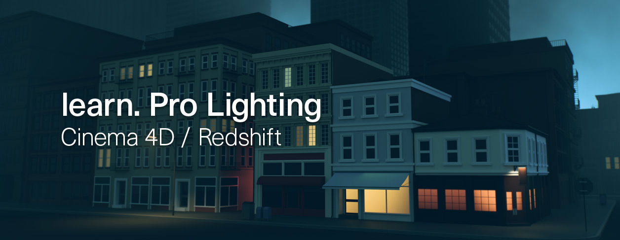 learn pro lighting in cinema 4D and redshift